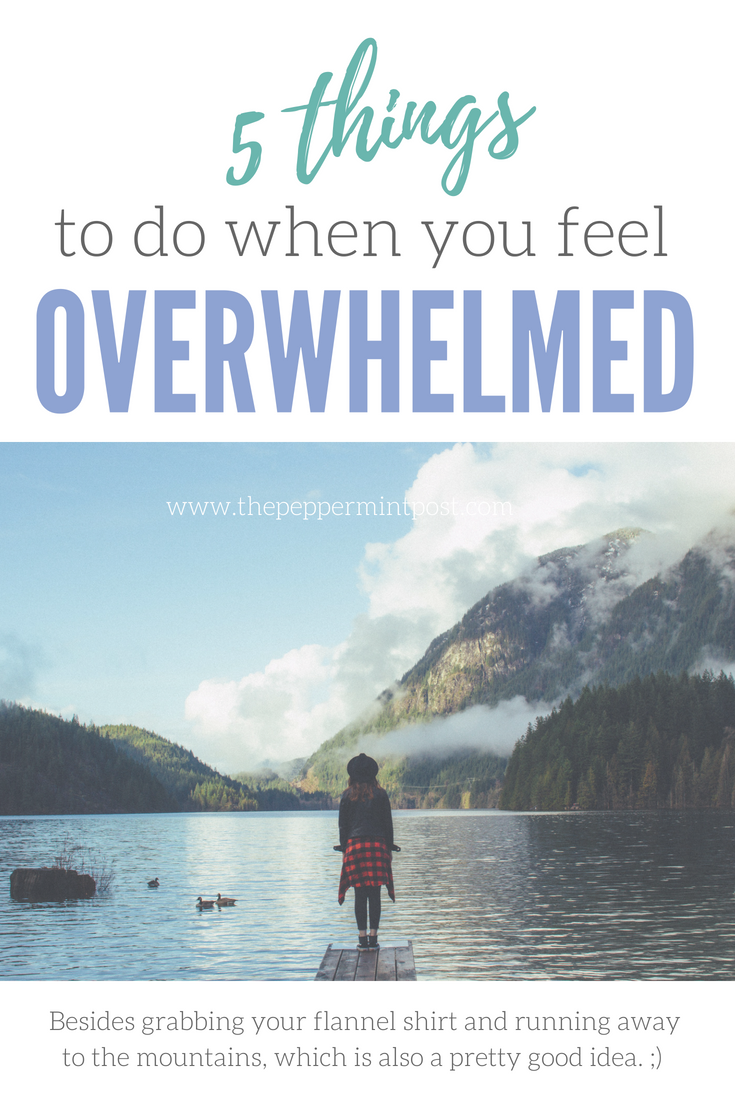 How to feel less overwhelmed | How to feel less anxious | How to be less stressed | Productivity | Minimalism #stress #anxiety #overwhelm